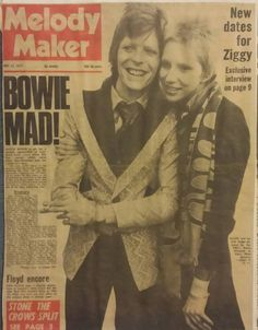 The Ziggy Years- David and Angie, Melody Maker cover.