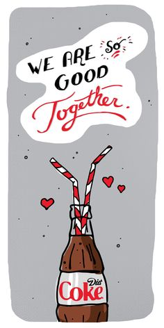Get swept off your feet with the taste of Diet Coke. - Diet Coke - Ideas of Diet Coke - Get swept off your feet with the taste of Diet Coke. Cute Couple Drawings, Always Coca Cola, Reminder Quotes, Inspirational Quotes For Women, Diet Coke, Vegan Wraps, Summer Drinks, Crafts To Make, Beverages