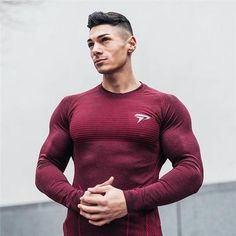 b58bf47031d 2019 New Brand Long Sleeve Muscle Sportswear Fitness Gyms Men T-Shirt  Breathable Bodybuilding Clothing Shirt Crossfit Top Tee