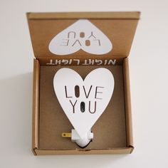 Love You Night Light - The cutest night light that we ever did see! Perfectly packaged, you hardly need to wrap it.