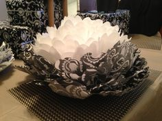 Tissue paper flowers black and white graduation party ideas black and white tissue flowers mightylinksfo