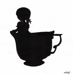 #teacup #girl #silhouette