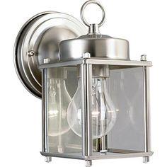 Progress Lighting - Brushed Nickel 1-light Wall Lantern - 785247118502 - Home Depot Canada