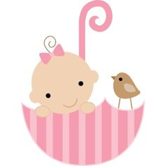 Baby and Bird in Umbrella Cake Topper Acrylic Cut Out by heartlocked