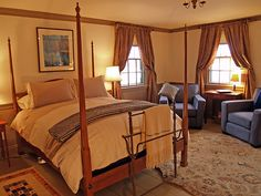 "#Bed | Enjoy a relaxing nights sleep in the luxurious feather bed in the Elizabeth ""Marm"" Bailey Room located in The Bailey House Bed & Breakfast located in Annapolis Royal, NS."