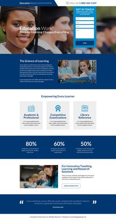 worldwide education consultants landing page design Website Design Layout, Website Design Services, Web Layout, Landing Page Inspiration, Website Design Inspiration, Education Website Templates, Web Design Quotes, Design Posters, University Website