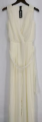 Shop The Trends Jumpsuits S Junior Chiffon Jumpsuits Ivory NEW | eBay