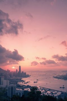 Hong Kong. At sunrise or sunset?