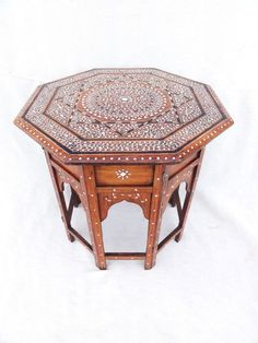 An Anglo Indian Hoshiarpur Inlaid Table