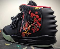 innovative design 71def 8e28c Buy Nike Air Yeezy 2 Givenchy By Mache Customs Black Solar Red New Style  from Reliable Nike Air Yeezy 2 Givenchy By Mache Customs Black Solar Red  New Style ...
