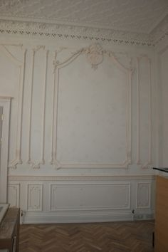 French style wall panelling