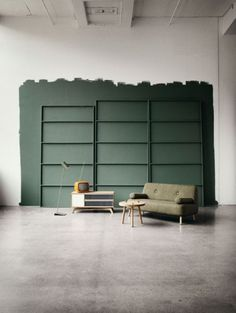 green walls...  Furniture Design for Bolia / Charlotte Honcke