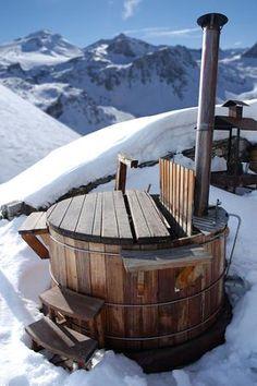 Spa ext rieur en bois avec po le int gr spa jacuzzi for Sauna exterieur occasion