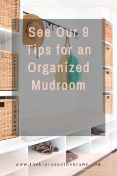 Mudrooms don't have to be huge to be powerful! See how we created our mudroom bench and shoe storage, plus how we organized the mudroom for maximum impact.  mudroom storage ideas, mudroom bench, mudroom shelves, mudroom ideas, mudroom ideas entryway, mudroom entryway, mudroom cubbies, mudroom cabinets, mudroom storage bench, mudroom storage cabinet, mudroom storage baskets, shoe shelves, mudroom styling