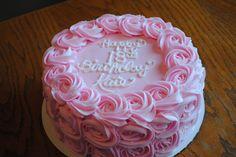 Rosette 18th birthday cake