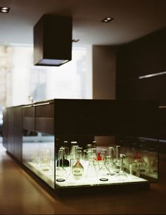 Maison Grace: Bulthaup Kitchen Island with Integrated Glass Showcase