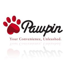 logo design for Pawpin by thelogoboutique.com - dog pat heart logo design