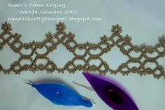 Queen's Crown Edging by Wanda Salmans .... with free pattern