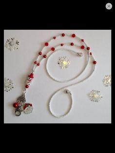 Snowman lanyard Beaded Lanyards, Id Badge Holders, Jewelry Crafts, Snowman, Jewellery, Pendant, Handmade, Gifts, Inspiration