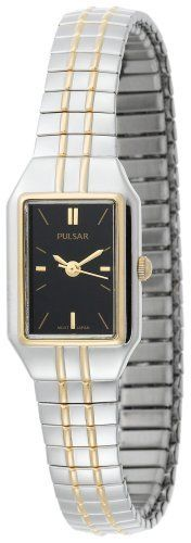 Pulsar Women's PC3198 Expansion Watch Pulsar. $74.65. Two-tone case; black dial. Strong Hardlex crystal protects watch from excessive wear on dial. Case diameter: 15 mm. Water-resistant to 99 feet (30 M). Quality Japanese-quartz movement