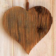 woodartAM / Drevené srdce zo starého dreva