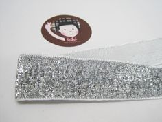 """5 Yards 1"""" Silver Glitter Ribbon, Wide Glitter Ribbon, Glitter yarn, Metallic ribbon, Silver Glitter, Silver ribbon, Silver sparkle ribbon Glitter Ribbon, Silver Glitter, How To Make Headbands, Purse Handles, Fun Projects, Special Day, Yards, Decorative Pillows, Art Pieces"""