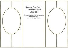 Double Fold Back Card Template CU4CU on Craftsuprint designed by Mary Jane Harris - This Double Fold-Back Card Template has a gold beveled edge to add a bit of bling to your card making projects. Template is CU4CU, and is in .png format. - Now available for download!