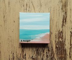 Beach painting Ocean painting Seascape painting Coastal painting  Nature painting Affordable art Under 40 dollars Free shipping US Seascape Paintings, Nature Paintings, Your Paintings, Watercolor Paintings, Original Paintings, Watercolor Cards, Watercolor Flowers, Unique Cards, Affordable Art