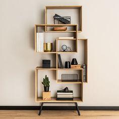 Buy the Vox Ribbon Tall Bookcase today! Modern Bookshelf, Bookshelf Design, Simple Bookshelf, Cool Kids Bedrooms, Living Room Decor Inspiration, Modern Interior Design, Shelving, Bedroom Decor, Minimalist House