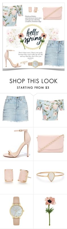 """""""Hello Spring"""" by lalalaballa22 ❤ liked on Polyvore featuring Yves Saint Laurent, Miss Selfridge, Liliana, Forever 21, Kate Spade, Catbird and Pavilion Broadway"""