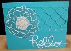 Stamp & Scrap with Frenchie: Beautiful Bermuda Bay with Blended Bloom