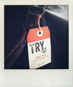 Try-it, wine & food travels - luggage tag business card
