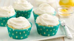 Use Pillsbury™ sugar cookie dough to create these yummy lemon cupcakes with a buttery lemon frosting.
