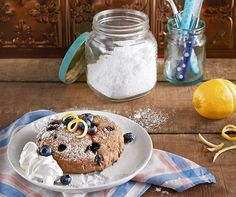 Vegan Slow Cooker Lemon Blueberry Cake for 2, Photo by Kate Lewis, Copyrighted by Fair Winds Pres