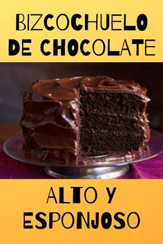 ¡Bienvenida! Hoy te presentamos la mejor receta de bizcochuelo de chocolate, en esta oportunidad le hemos dado un toque especial ¡Sigue leyendo y te vas a Chocolate House, Chocolate Cake With Coffee, Coffee Cake, Sweet Recipes, Cake Recipes, Dessert Recipes, Birthday Cookies, Sin Gluten, Carrot Cake