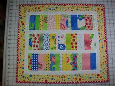 quick and simple table topper. Would make a fun baby quilt also.