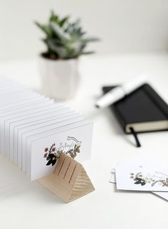 DIY Wooden Business Card Holder @themerrythought