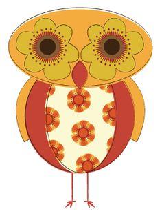 D292_Floral_Retro_Owl