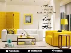 A House is made of wood and stone but only Love can make a home.  #home #decor #love