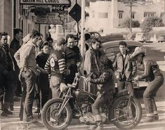1947 original photo.. The beginnings of the motorcycle gangs