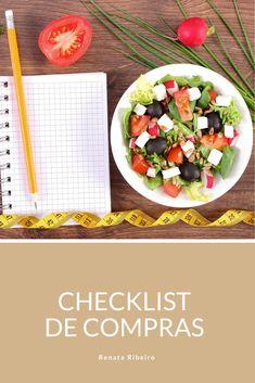 Conheça a minha smart list de compras e não fique perdida no supermercado >> #plannerdigital Cobb Salad, Salsa, Ethnic Recipes, Food, Shopping, Ethnic Food, Convenience Store, Meal, Salsa Music