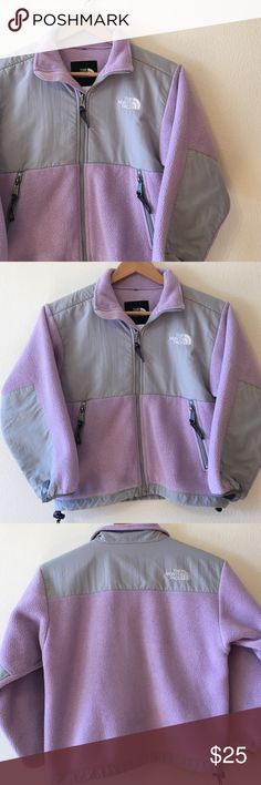 North Face Denali lavender girls' jacket  Good condition no tears or stains!! very warm and cozy! Perfect for winter. Name is written on he inside name tag but is fading. Very cute and girly!! North Face Jackets & Coats