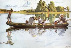 'Viking Expedition' - Carl Larsson (1853-1919)  | Artwork Images, Exhibitions, Reviews