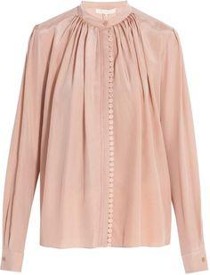4086f9b2ccfa2 Vanessa Bruno Blush Button Down Silk Blouse Size 2 (XS) 56% off retail