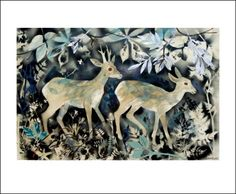 """""""Deer"""" by Mark Hearld (painted collage)"""