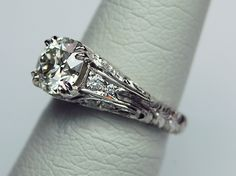 Whitehouse Brothers #8291 in Platinum with 2.00ct Old European Cut Center