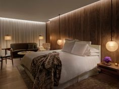 Who knew this type of wood paneling could look so sexy? | Gallery - Edition Hotels