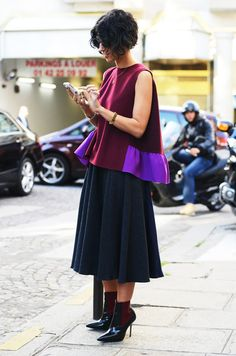 beautiful! love the colour combo in the top // via TOMMY TON