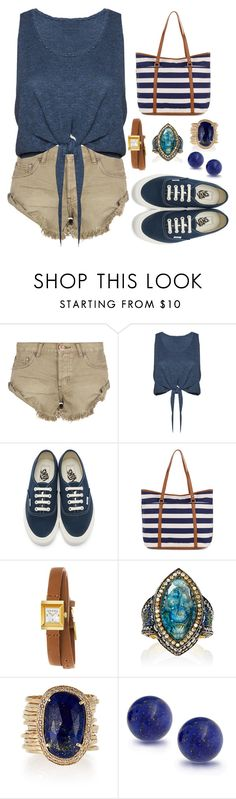 """Live While We're Young"" by staysaneinsideinsanity ❤ liked on Polyvore featuring One Teaspoon, Alice + Olivia, Vans, Accessorize, Gucci, Sevan Biçakçi, Jacquie Aiche, Bling Jewelry and beachtotes"
