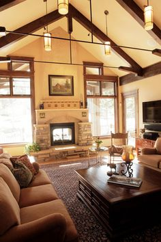 TA: ceiling angle, windows ( minus fireplace)